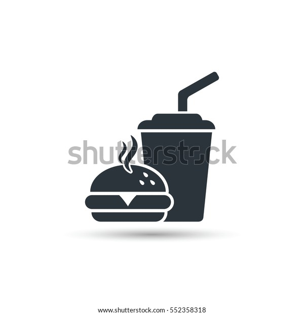 Fast food icon, vector isolated simple silhouette illustration.