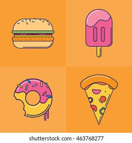 Fast Food Illustration (Line)
