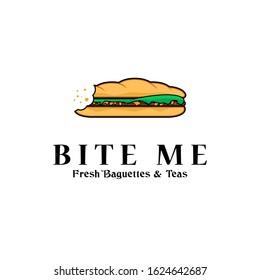 fast food logo idea, burger,hotdog, baguettes logo inspiration