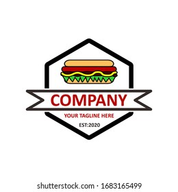 Fast food logo vector in modern style