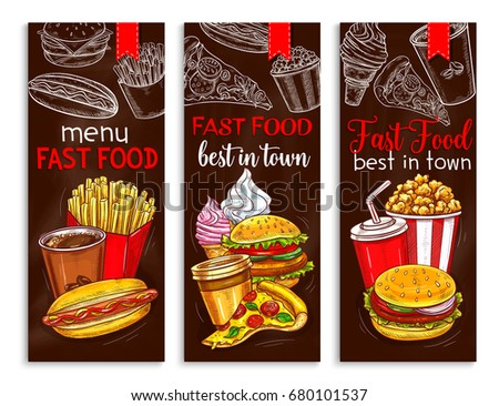fast food menu banners templates set stock vector royalty free