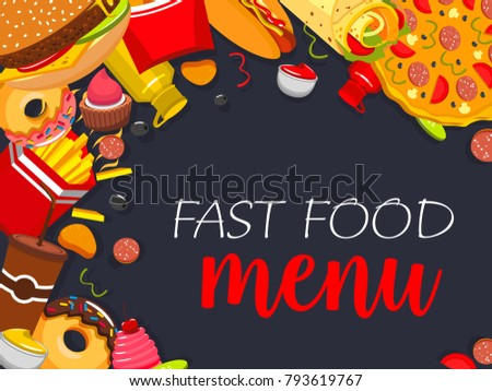 fast food menu cover design template stock vector royalty free