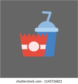Fast food menu icon