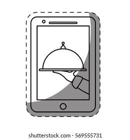 fast food order website icon, vector illustration image