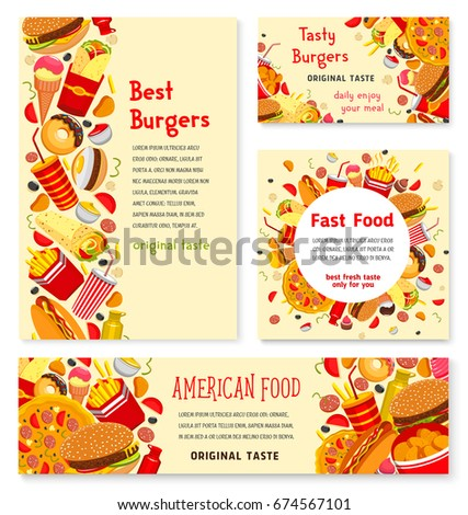 Fast Food Restaurant Banner Template Fast Stock Vector Royalty Free