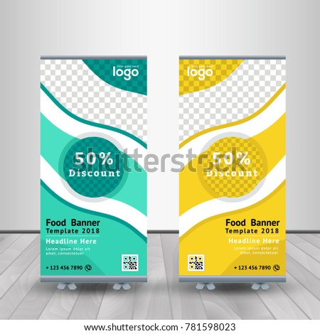 Fast Food Roll Banner Design Web Stock Vector Royalty Free