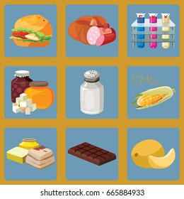 Fast food, sausage, chemical additives, fast carbohydrates, salt, GMO, refractory fats, chocolate, heavy foods
