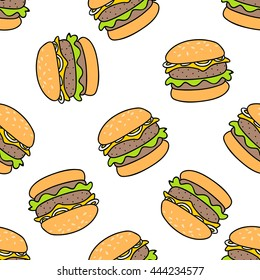 fast food seamless pattern. Endless texture can be used for wallpaper, pattern fills, web page background,textures.for printing on fabric, paper, scrapbooking