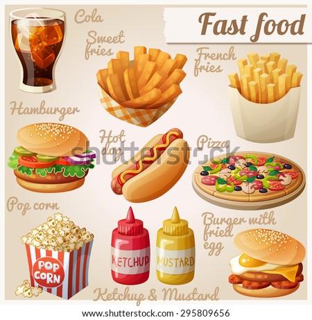 Fast food Set of