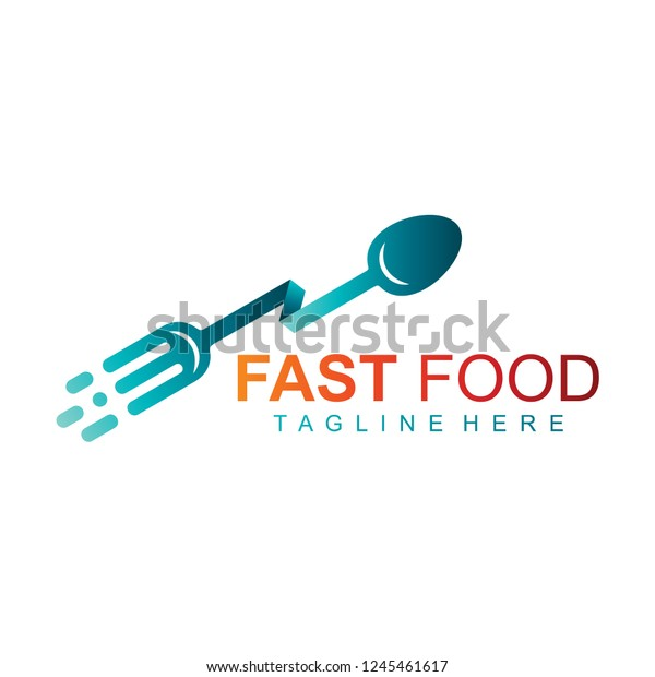 Fast Food Sign Logo Go Food Stock Vector Royalty Free