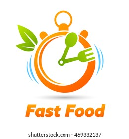 Fast Food (Stopwatch with a spoon and fork)