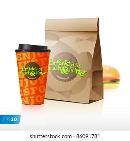 Fast food vector set eps 10