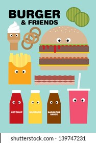 fast food/burger vector/illustration template