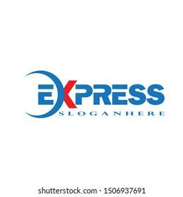 Fast Forward Express logo designs vector, Modern Express logo template