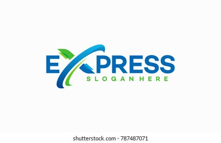 Fast Forward Express logo designs vector, Modern Express logo template