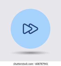 Fast forward icon. Media player button vector