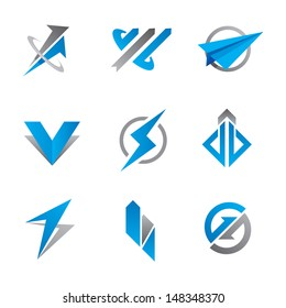 Fast and furious symbol logo template