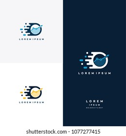 Fast Growth Logo designs concept vector, Finance logo designs