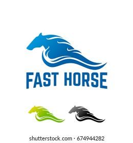 Fast Horse logo designs template vector illustration, Running Horse Logo template designs
