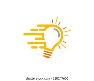 Fast Idea Icon Logo Design Element