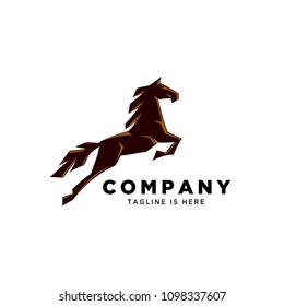 fast Jumping horse logo