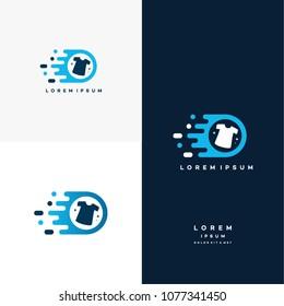 Fast Laundry logo designs concept vector, Laundry logo, Fashion logo template