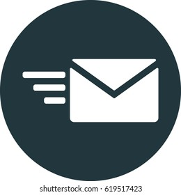 fast mail vector icon, email icon