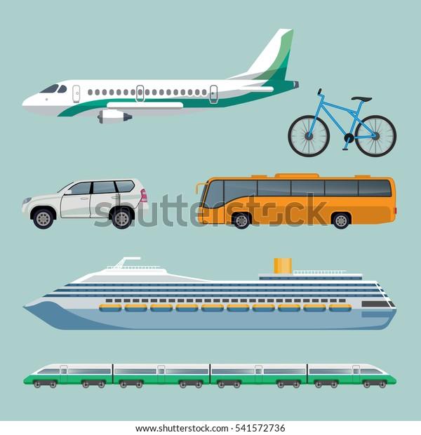 Image Vectorielle De Stock De Moyen De Transport Rapide Ensemble D