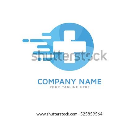 fast medic logo design template stock vector royalty free