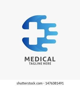 Fast medical logo design inspiration