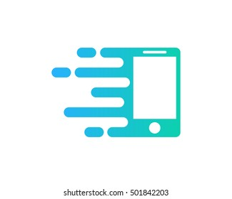 Fast Mobile Logo Design Template
