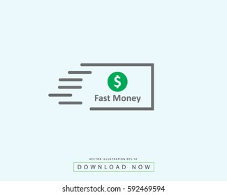 Fast Money Icon For Business