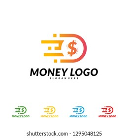 Fast money logo Design Concept Vector. Fast Coin logo Template