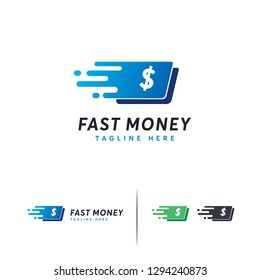 Fast Money logo designs template, Fast Finance logo symbol