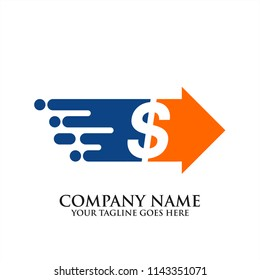 Fast Money Transfer Payment Logo Icon Fast Transfer money icon, fast money icon, quick transfer dollar money logo