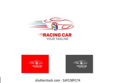 Fast Moving Sport Car Logo Concept