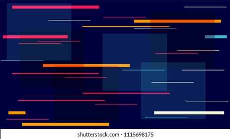 Fast Moving Street Lights, Speed Lines, Neon IT, Hi Tech Vector Design. Internet Technology Communication Stripes Template. Night City, Racing Car Lights, Neon Futuristic Hi Tech Poster Texture