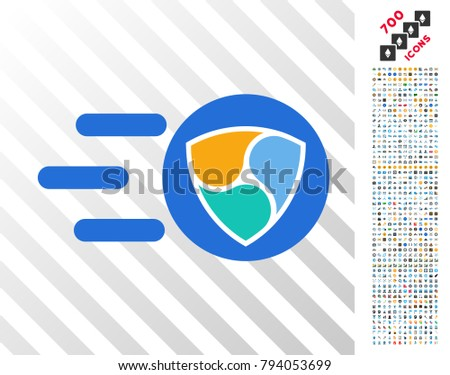Fast Nem Delivery Icon 7 Hundred Stock Vector (Royalty Free