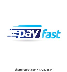 Fast Pay Digital Electronic Transaction Logo Symbol Icon