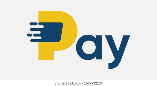 Fast Pay logo design. Fast Finance logo. Fast Payment logo