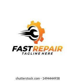 fast repair logo icon vector