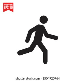 fast run icon template black color editable. running symbol vector sign isolated on white background. Simple logo vector illustration for graphic and web design.