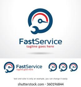 Fast Service Logo Template Design Vector