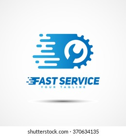 Fast service logo template design. Vector illustration.