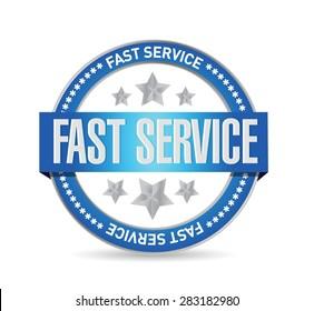 fast service seal sign concept illustration design over white