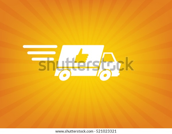 Fast Shipping Delivery Truck Flat Icon Stock Vector Royalty