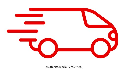Fast shipping delivery truck, fast shipping service – stock vector