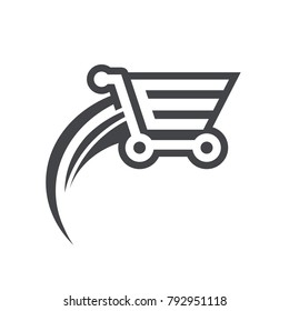 Fast Shopping Cart Icon