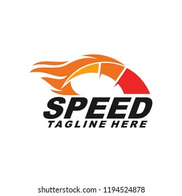 Fast and Speed fire logo template vector