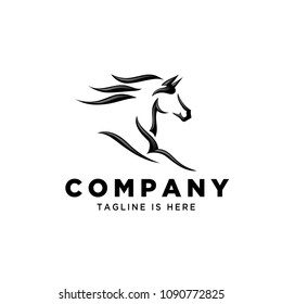 Fast speed horse logo